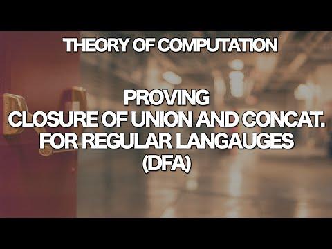 Theory of Computation - Closure of Union and Concatenation for DFA