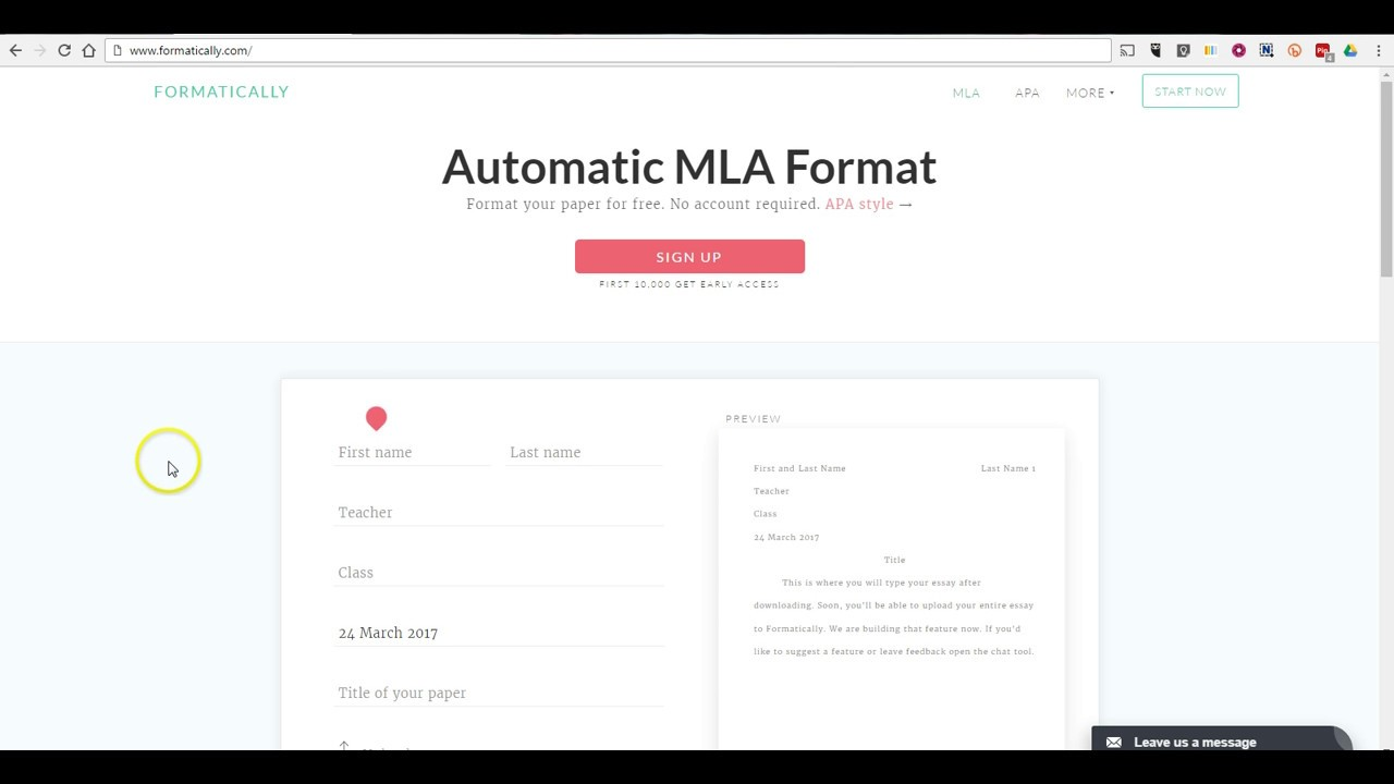 formatically provides a mla essay template  formatically provides a mla essay template