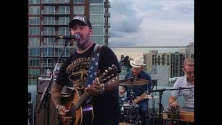 FOLDED FLAG ---Aaron Lewis Live BMI ROOF