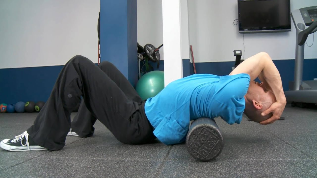 Thoracic Spine Mobilizations With Foam Roller Youtube