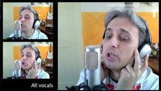 How To Sing a cover of With A Little Help From My Friends Beatles Vocal Harmony Lesson Tutorial