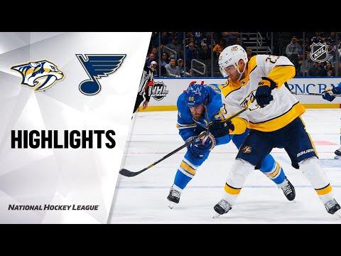 NHL Highlights   Predators @ Blues 02/15/20