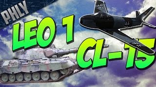 War Thunder TANKS! LEOPARD 1 & CL-13 SABRE! War Thunder Combined ARMS!