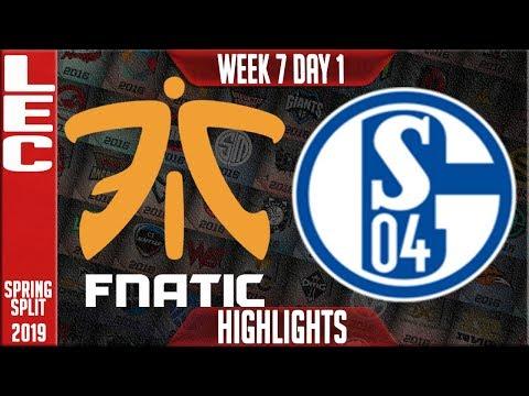 FNC vs S04 Highlights   LEC Spring 2019 Week 7 Day 1   Fnatic vs Schalke 04