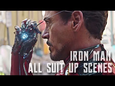 Iron Man All Suit Up Scenes (2008-2018) Robert Downey Jr. (1080p)