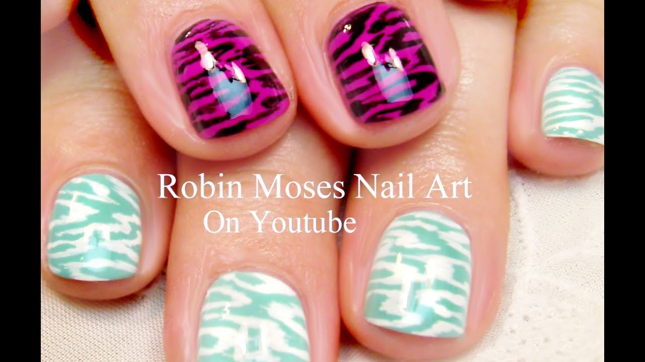 2 Animal Print Nail Designs | DIY Nail Art Tutorial for Short Nails ...