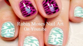 Easy Nail Art For Short Nails - 2 Diy Animal Print Designs!