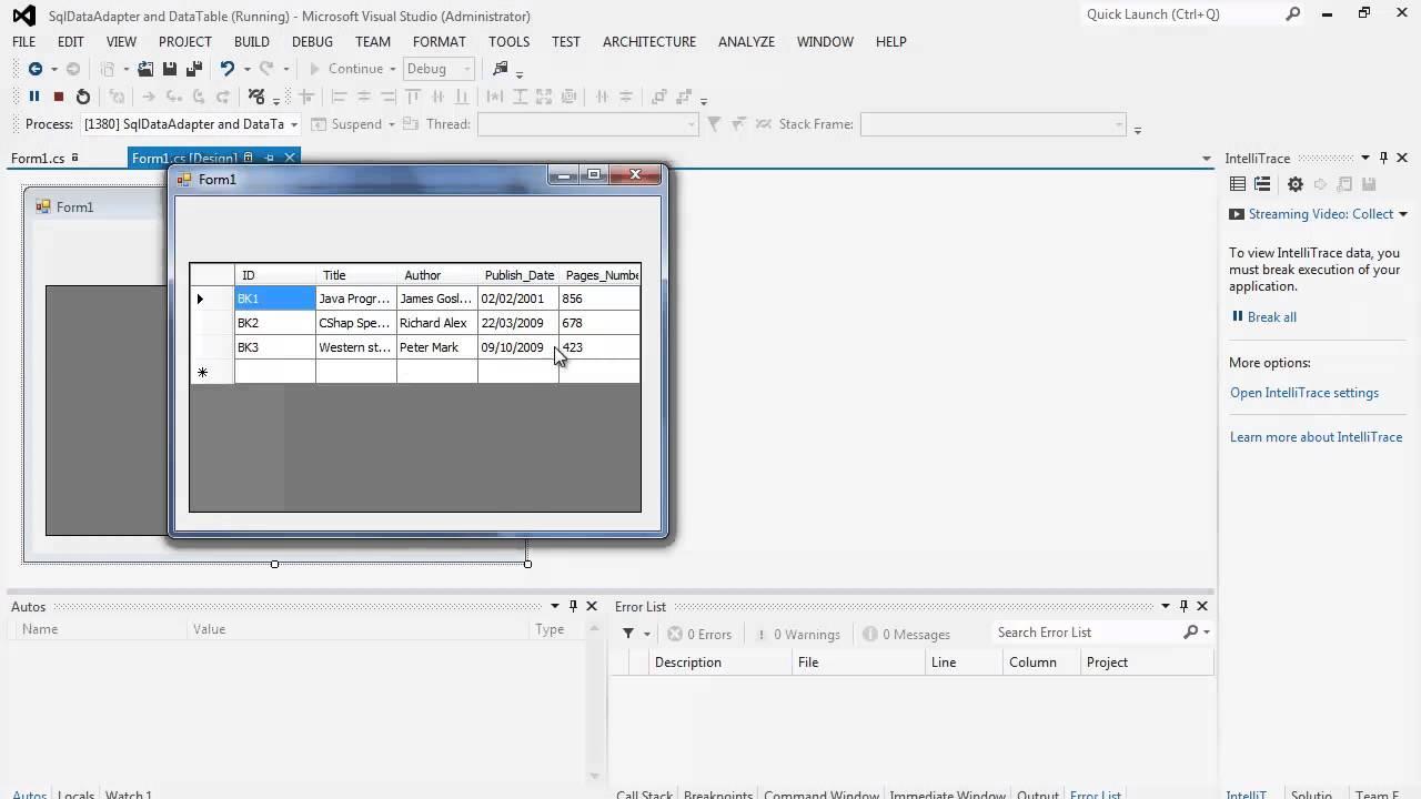 88. برمجة قواعد البيانات -  DataTable and DataGridView
