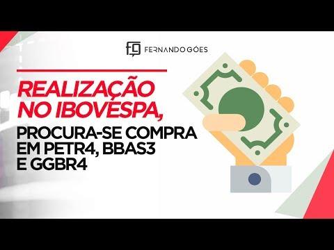 🔴REALIZAÇÃO NO IBOVESPA. PROCURA-SE COMPRA PETR4, GGBR4, BBAS3.