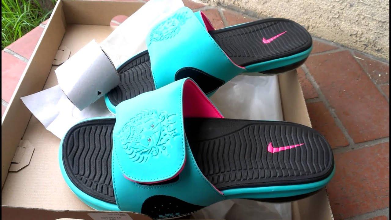 c9f2dd4e29a Nike Air Lebron Slide South Beach - YouTube