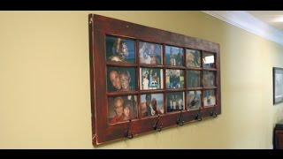 Creating a French Door Photo Gallery/ Coat Rack for Your Wall