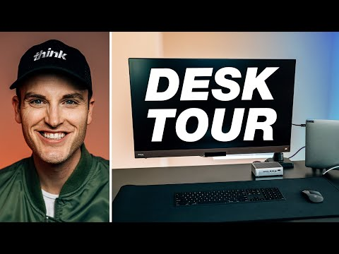 Home Office Tour: Laptop Docking Station, Standing Desk, And BenQ 4K Monitor Setup