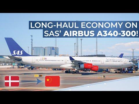 TRIPREPORT   Scandinavian Airlines (ECONOMY)   Airbus A340-300   Copenhagen - Shanghai Pudong