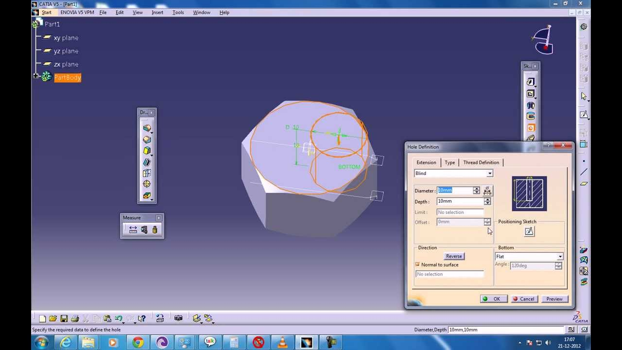 Catia V5 Tutorials Part Design Bolean Operation Union Trim