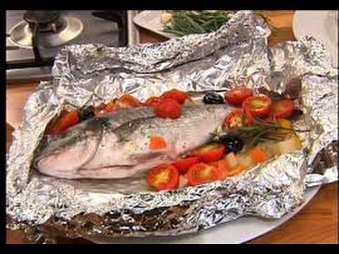 Ricetta veloce Orata al Cartoccio,Quick recipe sea bream Husk,快速配方鯛稻殼,