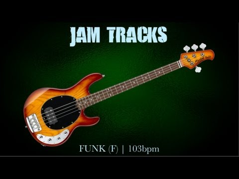Funk Bass Backing Track F  103 Bpm  MegaBackingTracks