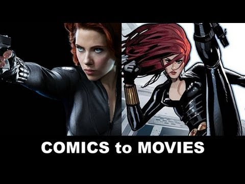 The Avengers 2012 - Scarlett Johansson is Black Widow! From Comics to Trailer to Movie!