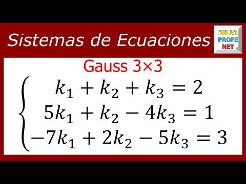 SOLUCIÓN DE UN SISTEMA DE 3x3 POR GAUSS