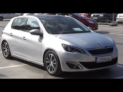 peugeot 308 allure 1 6 e hdi 115 bvm6 second generation 2013 exterior and interior in full hd. Black Bedroom Furniture Sets. Home Design Ideas