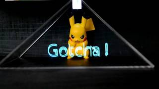 Pokemon Pikachu 3D Hologram!!! Project Holo - Unboxing and Review