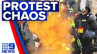 Protests continue outside Melbourne's CFMEU office | 9 News Australia