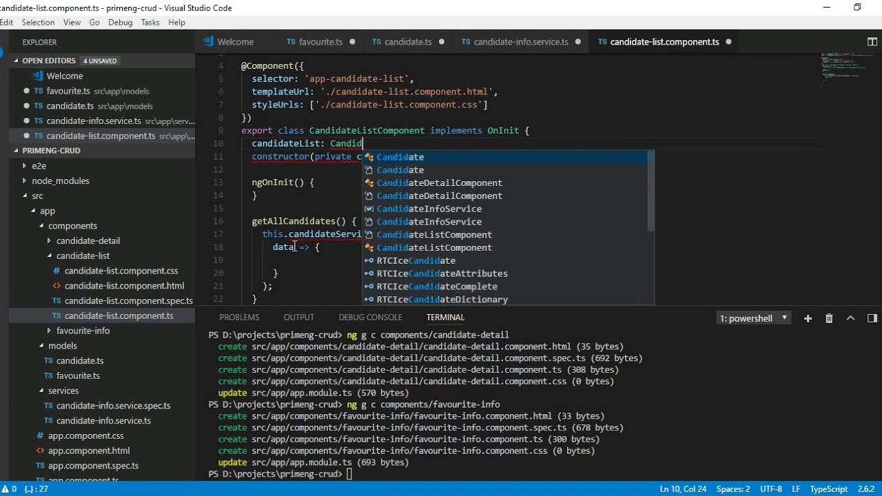 Angular 5 Tutorial - PrimeNG CRUD application Part1
