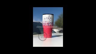 Original Hand Dotted Glitter Ombre Tumbler Turotial [Previous Facebook Live]