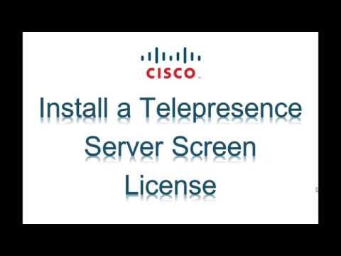 Install a Telepresence Server Screen License