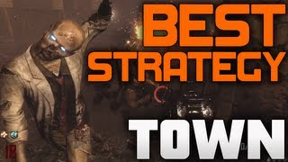 Black Ops 2 Zombies: BEST TOWN High Round Solo Strategy!!! (BO2 Zombies Gameplay Train)