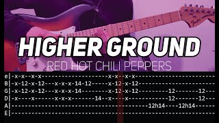RHCP - Higher ground (Guitar lesson with TAB)