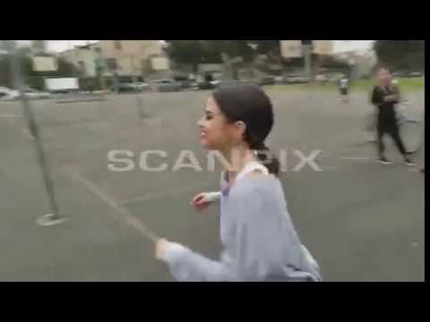 Selena Gomez Plays Basketball & Takes Photos With Fans At Walter Reed Middle School 10/30/2017
