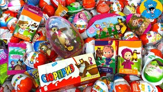 Киндер Сюрпризы,Unboxing Kinder Surprise Маша и Медведь,Masha and the Bear,Сказочный Патруль