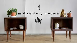 DIY MID CENTURY MODERN NIGHT STANDS | THE SORRY GIRLS