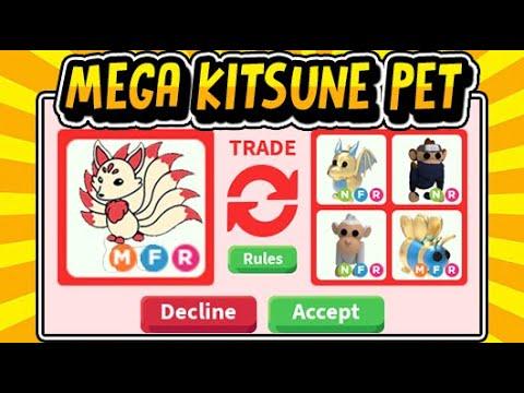 What People Trade For Mega Neon Kitsune Pet In Adopt Me Free