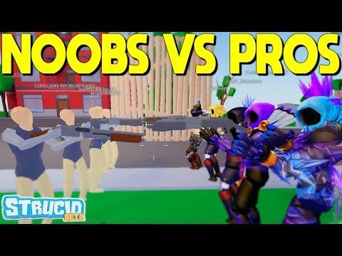 NOOBS vs PROS In Strucid... (i was shocked)