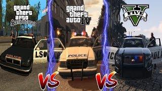 ГДЕ ПОЛИЦИЯ ЛУЧШЕ? GTA 5 vs GTA 4 vs GTA San Andreas
