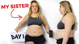 My sister her incredible 90 day body transformation | $500 Challenge