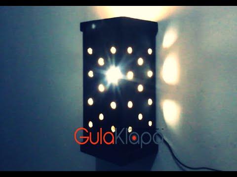 Diy How To Make A Simple Night Lamp Cara Membuat Lampu Tidur Sederhana