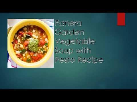 Garden Vegetable Soup Pesto Recipe Body Artistic