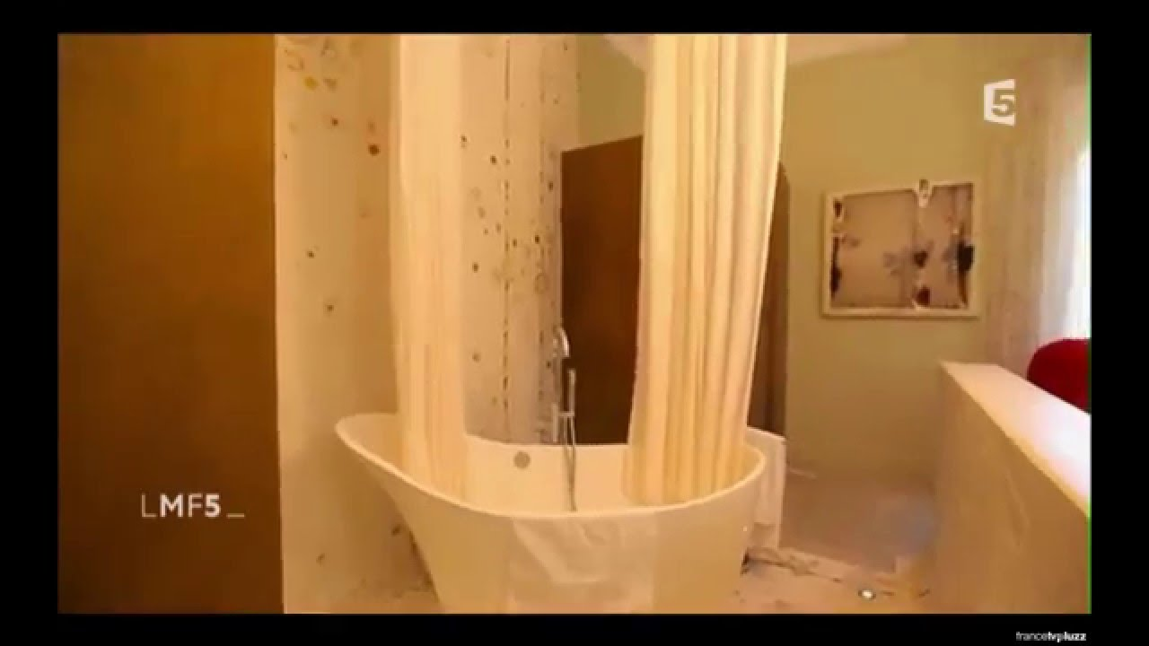 galbobain solution rideau de douche haut de gamme maison france 5 au domaine de biar youtube. Black Bedroom Furniture Sets. Home Design Ideas