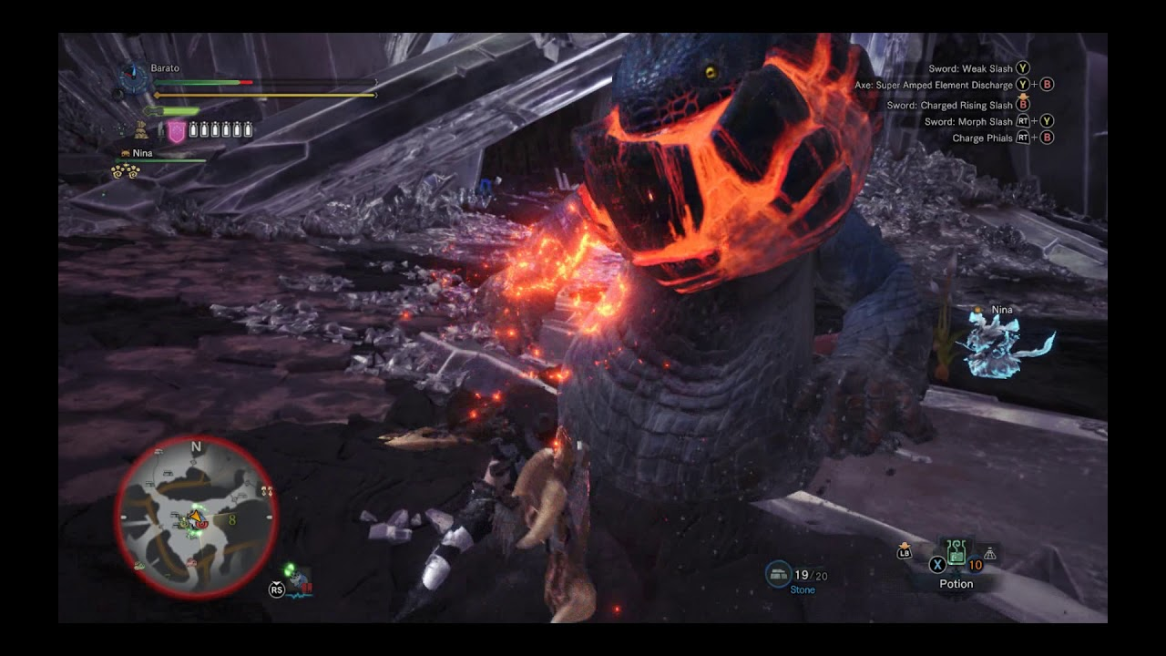 Monster Hunter World PC - Dodogama Hunt - Charge Blade