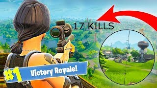 INSANE Fortnite GAMEPLAY| 17 kills solo win| snipes and build offs