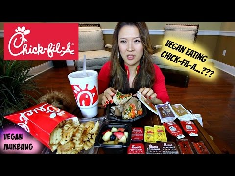 Chick-Fil-A MUKBANG • vegan