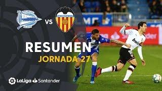 Resumen de Deportivo Alavés vs Valencia CF (1-1)