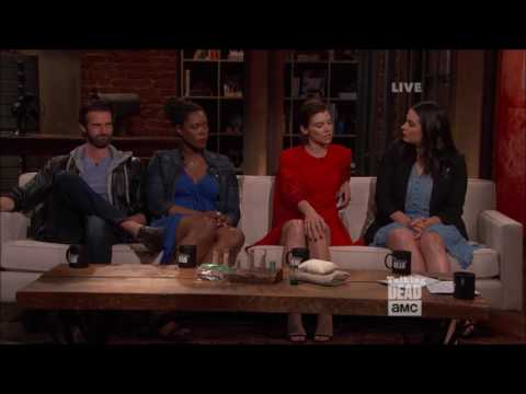 Talking Dead - Lauren Cohan on not having Steven Yeun on set