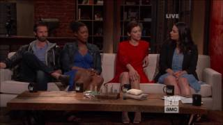 Talking Dead - Lauren Cohan on not having Steven Yeun on set
