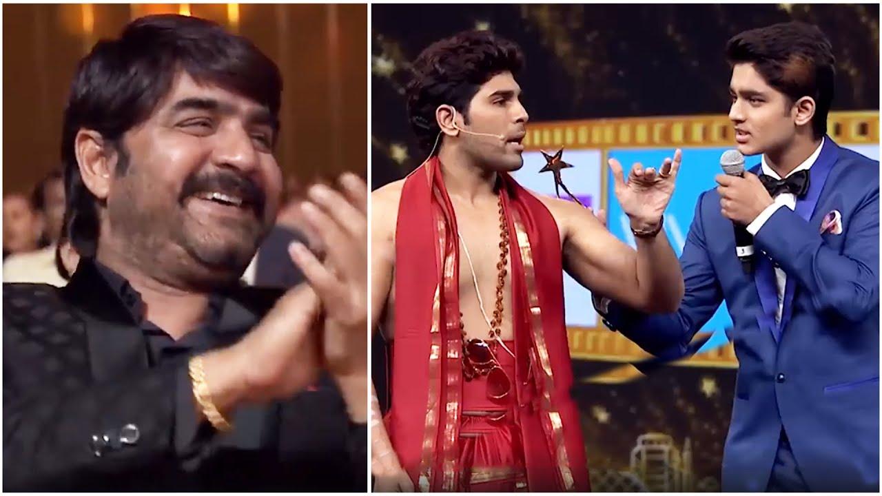 Download Actor Srikanth Enjoying Allu Sirish's Hilarious Fun With His Son Roshan