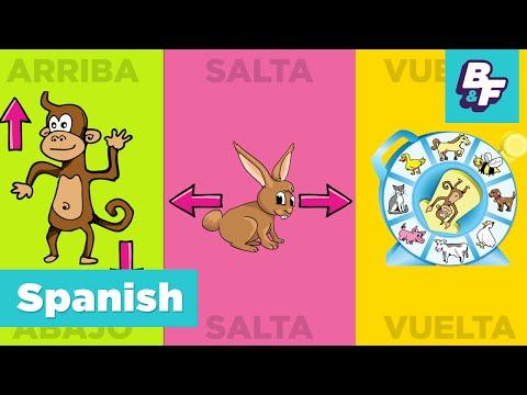 Bilingual Brain Break, Learn Spanish with BASHO & FRIENDS - Children Exerci
