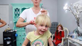 OOPS! SHE CUT HER OWN HAIR!
