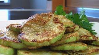 Кабачки жареные видео рецепт. Книга о вкусной и здоровой пище